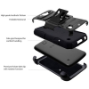 LG K3 Beyond Cell Shell Case Armor Kombo with Kickstand - Black/Black - - alt view 2