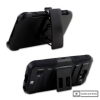 LG K3 Beyond Cell Shell Case Armor Kombo with Kickstand - Black/Black - - alt view 3