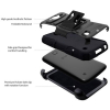 LG K3 Beyond Cell Shell Case Armor Kombo with Kickstand - Galaxy Stars - - alt view 2