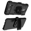 LG K8 2017 Beyond Cell Shell Case Armor Kombo with Kickstand - Black/Black - - alt view 3