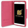 Motorola Moto X (2nd Gen) Beyond Cell Infolio Leather Case - White/Pink - - alt view 1