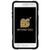 Samsung Galaxy Grand Prime Beyond Cell Shell Case Hyber V2 Case - Black Diamond Steel - - alt view 1