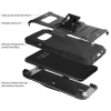 Samsung Galaxy S8 Beyond Cell Shell Case Armor Kombo with Kickstand - Black/Black - - alt view 2