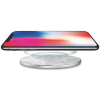 TekYa 10W Rapid Charge Certified Qi Wireless Charging Pad - White Marble/Aluminum - - alt view 1