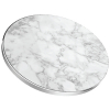 TekYa 10W Rapid Charge Certified Qi Wireless Charging Pad - White Marble/Aluminum - - alt view 2