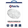 TekYa 10W Rapid Charge Certified Qi Wireless Charging Pad - White Marble/Aluminum - - alt view 4