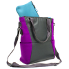 Universal M-Edge Tech Tote with 4000mAh Portable Battery - Gray with Purple - - alt view 1