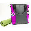 Universal M-Edge Tech Tote with 4000mAh Portable Battery - Gray with Purple - - alt view 3