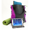 Universal M-Edge Tech Tote with 4000mAh Portable Battery - Gray with Purple - - alt view 4