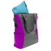 Universal M-Edge Tech Tote with 4000mAh Portable Battery - Gray with Purple - - alt view 5