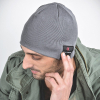 Caseco Bluetooth Beanie with Built-In Headphones - Slim Gray - - alt view 1