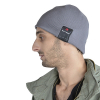 Caseco Bluetooth Beanie with Built-In Headphones - Slim Gray - - alt view 2