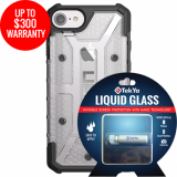 Apple iPhone 8/7 Double Advantage Bundle TekYa Liquid Glass with UAG Plasma - Ice