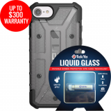Apple iPhone 8/7 Double Advantage Bundle TekYa Liquid Glass with UAG Plasma - Ash