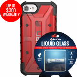 Apple iPhone 8/7 Double Advantage Bundle TekYa Liquid Glass with UAG Plasma - Magma