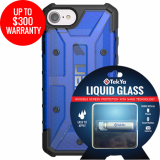 Apple iPhone 8/7 Double Advantage Bundle TekYa Liquid Glass with UAG Plasma - Cobalt