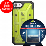 Apple iPhone 8/7 Double Advantage Bundle TekYa Liquid Glass with UAG Plasma - Citron