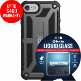 Apple iPhone 8/7 Double Advantage Bundle TekYa Liquid Glass with UAG Monarch - Graphite