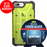 Apple iPhone 8+/7+ Double Advantage Bundle TekYa Liquid Glass with UAG Plasma- Citron
