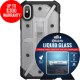 Apple iPhone Xs/X Double Advantage Bundle Tekya Liquid Glass with UAG Plasma- Ice