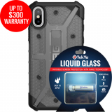 Apple iPhone Xs/X Double Advantage Bundle Tekya Liquid Glass with UAG Plasma - Ash