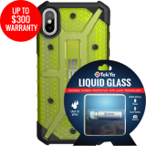 Apple iPhone Xs/X Double Advantage Bundle Tekya Liquid Glass with UAG Plasma - Citron