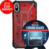 Apple iPhone Xs/X Double Advantage Bundle Tekya Liquid Glass with UAG Plasma - Magma
