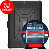 Apple iPad 9.7 2017 Double Advantage Bundle Tekya Liquid Glass with UAG Metropolis-Black