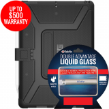 Apple iPad Pro 10.5 Double Advantage Bundle TekYa Liquid Glass w/ UAG Metropolis-Black