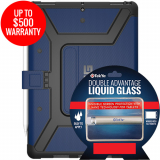 Apple iPad Pro 10.5 Double Advantage Bundle TekYa Liquid Glass w/ UAG Metropolis-Cobalt