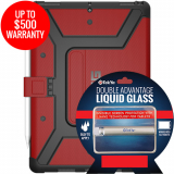 Apple iPad Pro 10.5 Double Advantage Bundle Tekya Liquid Glass w/ UAG Metropolis-Magma