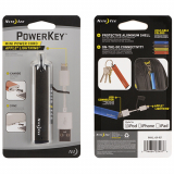 Nite Ize Powerkey Apple Lightning Mini Power Cord - Smoke