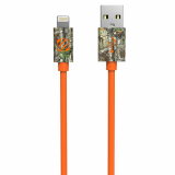 "Scosche StrikeLINE Apple Lightning 36"" Data/Sync/Charge Cable - Orange/Real Tree"
