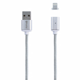 TekYa T-Snap 36in Apple Lightning Magnetic Tip with Cable - Silver