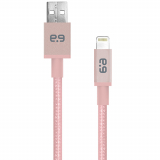 "PureGear Apple Lightning 120"" Braided Data/Sync/Charge Cable - Rose Gold"