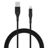 **NEW**TekYa 72 Inch (6ft) Apple Lightning to USB-A 2.4 Amp Braided Cable - Black