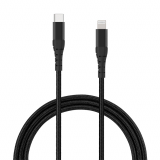 **NEW**TekYa 72 Inch (6ft) Apple Lightning to USB-C 3 Amp Braided Cable - Black