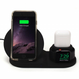 M-Edge Apple Triple Charge Wireless Charging Dock - Black