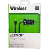 Just Wireless Apple Lightning 2.1Amp Car Charger - Black