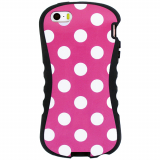 Apple iPhone 5/5s/SE Onion Thin Waist Case - Pink with White Polka Dots