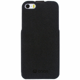 Apple iPhone 5/5s/SE Onion Cork Flip Case - Black