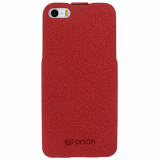 Apple iPhone 5/5s/SE Onion Cork Flip Case - Red