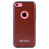 Apple iPhone 5c Onion Leather Case - Brown
