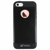 Apple iPhone 5/5s/SE Onion Leather Case - Black