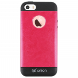 Apple iPhone 5/5s/SE Onion Leather Case - Hot Pink