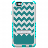 Apple iPhone 6/6s Beyond Cell Tri Shield Case - Teal Chevron