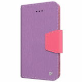 Apple iPhone 6 Plus/6s Plus Beyond Cell Infolio Leather Case - Purple/Pink