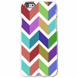 Apple iPhone 6 Plus/6s Plus Ultra Slim Clip On Case - Color Block Chevron