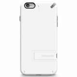 Apple iPhone 6 Plus/6s Plus PureGear Slim Shell With Kickstand Case - White