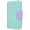 Apple iPhone 6/6s Beyond Cell Infolio Leather Case - Mint/Purple